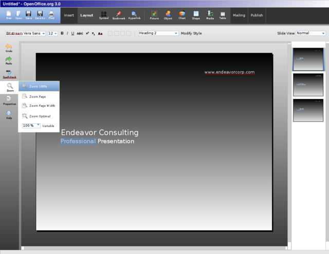 OpenOffice.org Flux UI