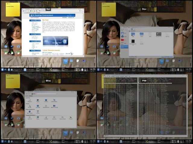 KDE4, zoomare i desktop