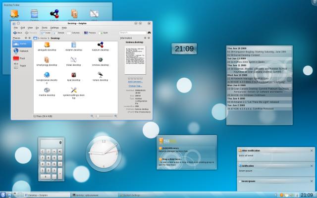 Tema Air per KDE4 è ufficialmente in KDE 4.3