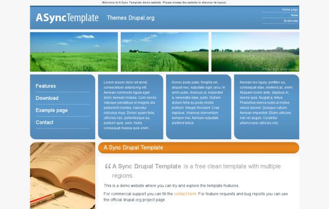 Nuovo template per Drupal