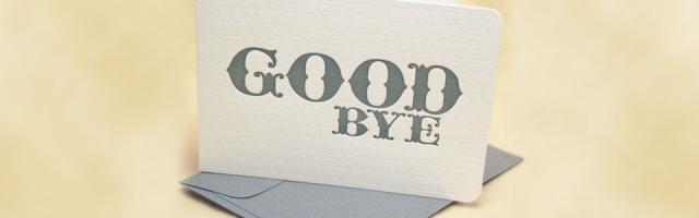Arrivederci WordPress