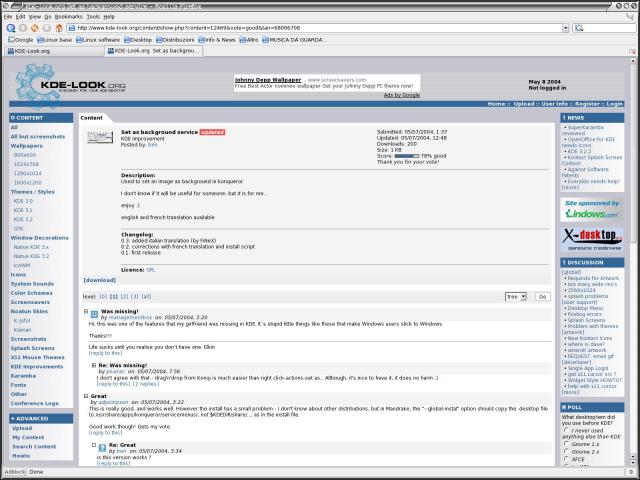Screenshot 08/05/2004