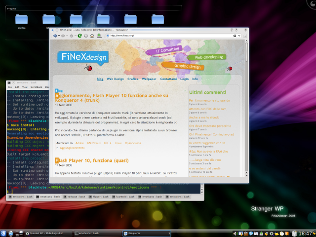Screenshot 18/11/2008 - KDE 4 (1)