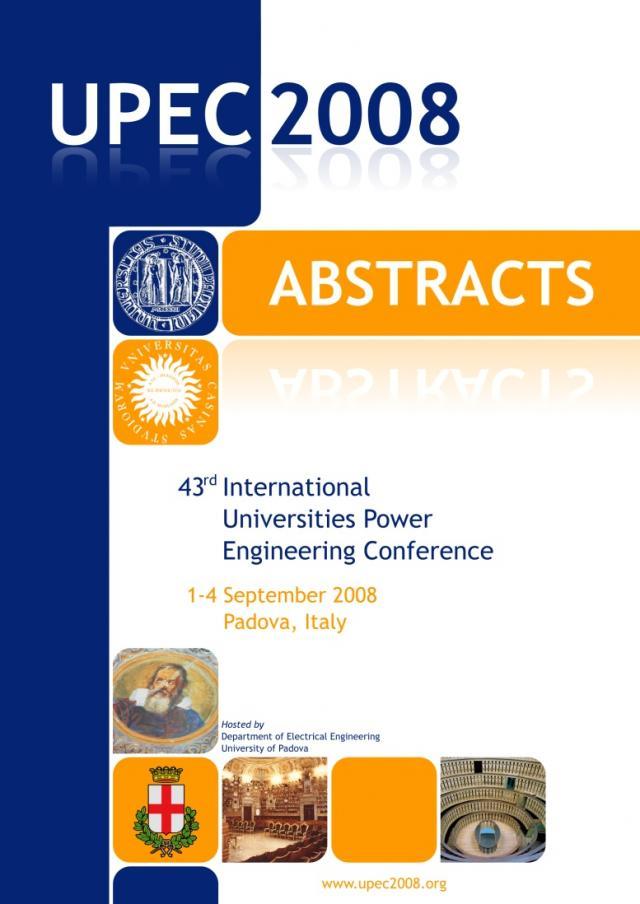 Copertina libro UPEC2008
