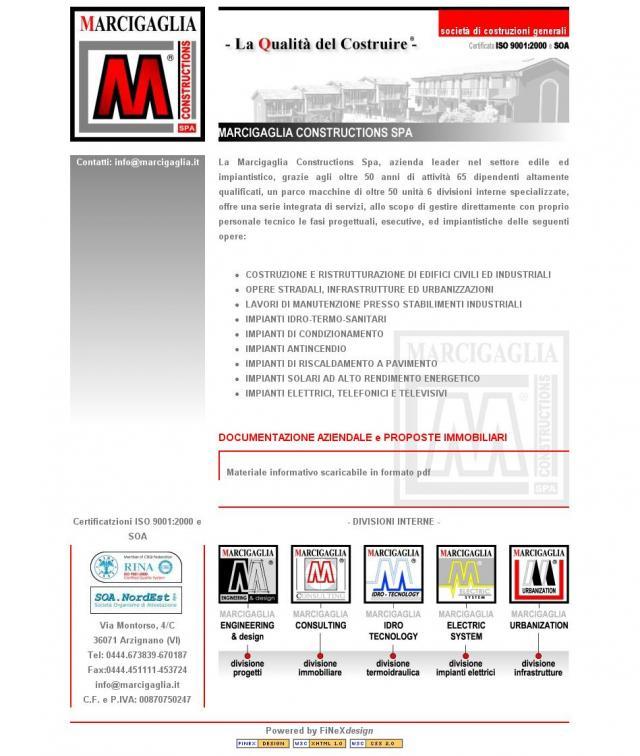 Marcigaglia.it 2006