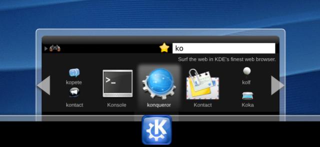 Raptor, menu di nuova generazione per KDE