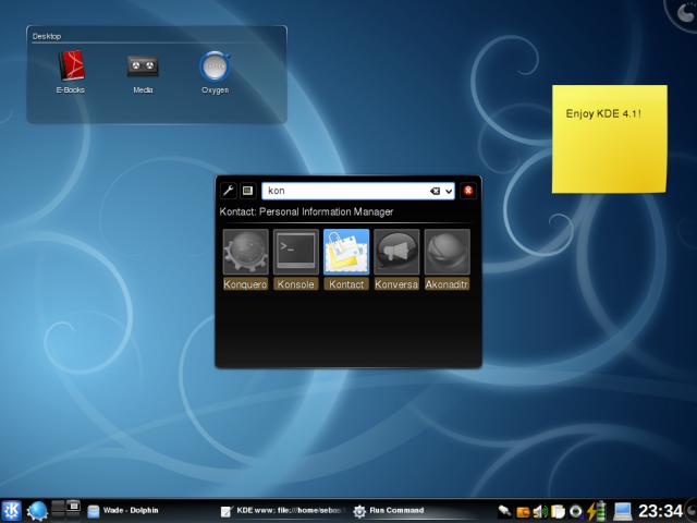 KDE 4.1.0 rilasciato ufficialmente.