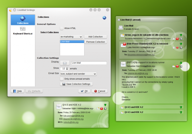 Lion Mail, le email nel desktop di KDE4