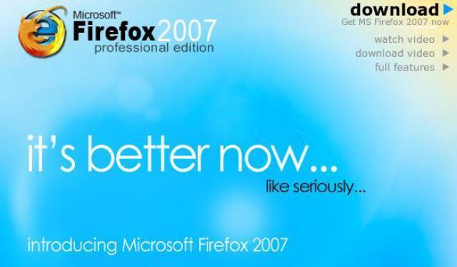 Microsoft Firefox 2007