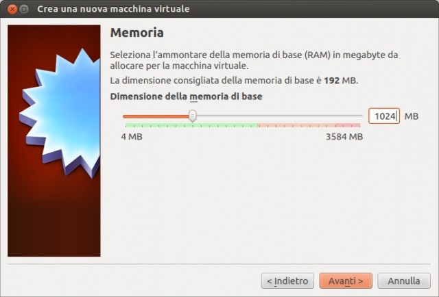 VirtualBox - Memoria RAM