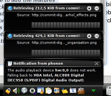 KDE 4 - Notifiche Plasma