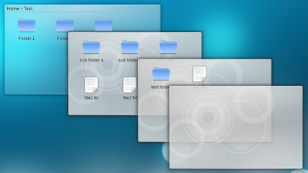 recursive folder view