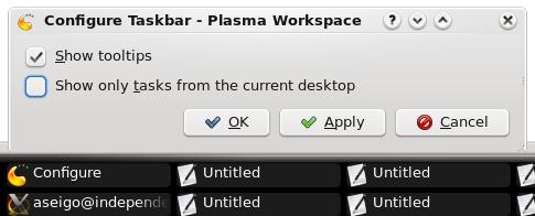 Taskbar KDE4